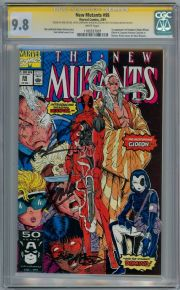 New Mutants  #98 CGC 9.8 Signature Series Signed x4 Stan Lee Rob Liefeld 1st App Deadpool Marvel